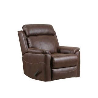 Arima Dark Brown Faux Leather Rocker Recliner Chair