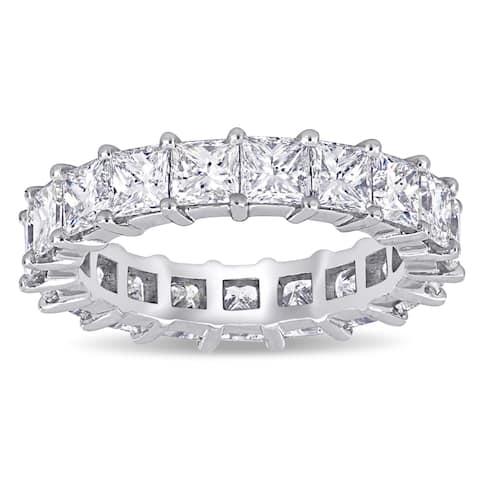 Miadora White Platinum 4ct TDW Princess-Cut Diamond Full-Eternity Band Ring