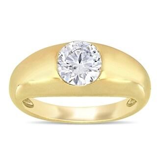 Miadora 14k Yellow Gold 1 1/5ct TDW Diamond Solitaire Engagement Ring