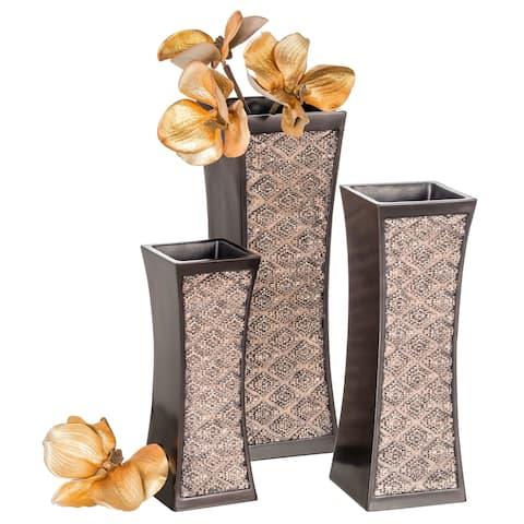Dublin Flower Vase Set of 3 (Brown)