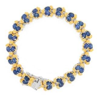 Michael Valitutti Palladium Silver Ceylon Color Sapphire Line Bracelet