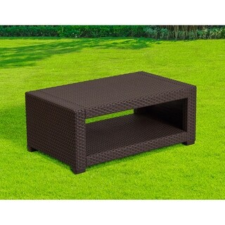 Winston Chocolate Brown All-weather Garden Patio Coffee Table