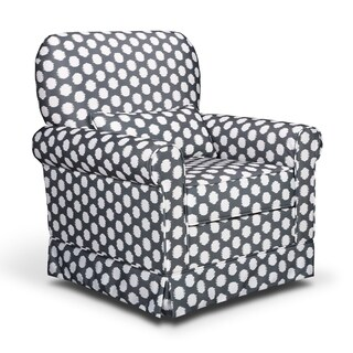 Storkcraft Polka Dot Upholstered Glider with Reversible Lumbar Pillow