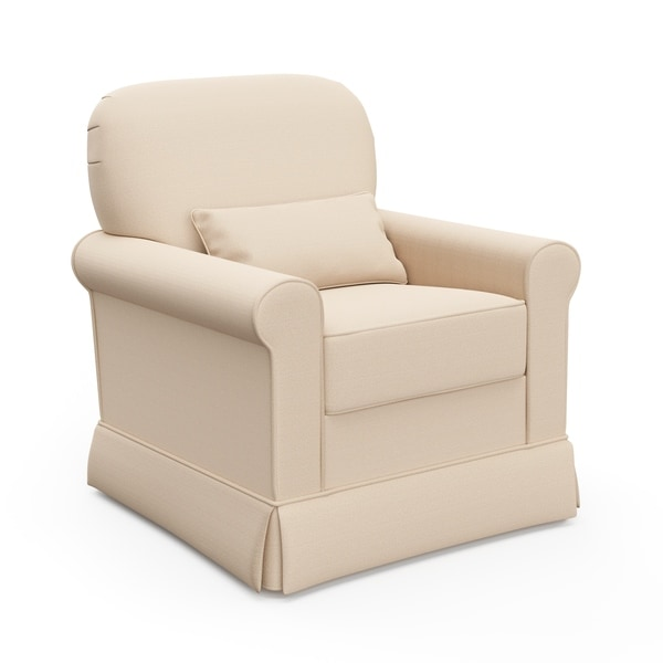 Storkcraft Avalon Upholstered Glider with Reversible Lumbar Pillow