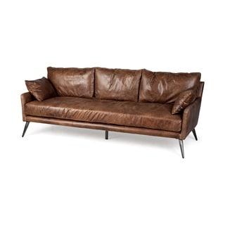 Shop Mercana Colburne Ii Antique Brown Leather Sofa On
