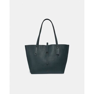 Coach Cypress Polished Pebble Leather Metallic Interior Market Tote