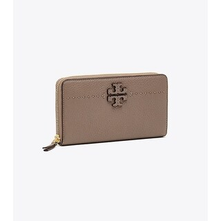 Tory Burch MCGRAW ZIP CONTINENTAL WALLET Silver Maple