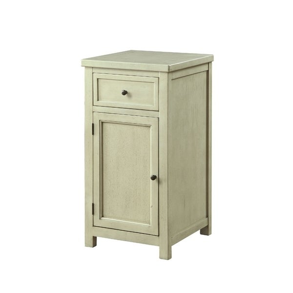 Shop Solid Wood One Drawer And One Door Side Table With Metal Knobs