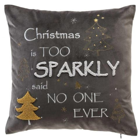 Christmas Is Too Sparkly Velvet Pillow