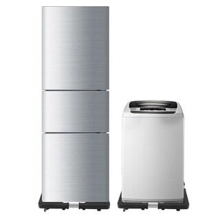 Dolly Roller Refrigerator Base Washing Machine Bracket - Black
