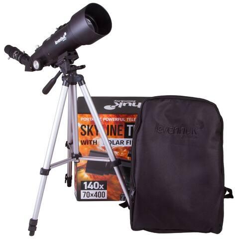 Levenhuk Skyline Travel Sun 70 Telescope - Black