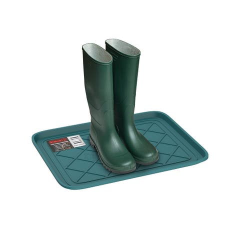 All Weather Boot Tray - Water Resistant Plastic Utility Shoe Mat for Indoor and Outdoor Use by Stalwart