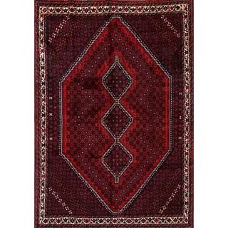 "Shiraz Geometric Handmade Wool Persian Area Rug For Living Room - 9'5"" x 6'7"""