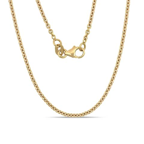 Miadora 18k Yellow Gold 18 Inch Cable Chain (1.5 mm)