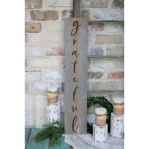 Farmhouse Vertical Engraved Wood Sign 5x30