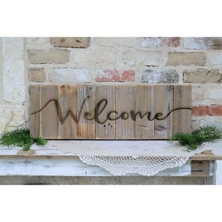 Farmhouse Engraved Wood Sign 30x10