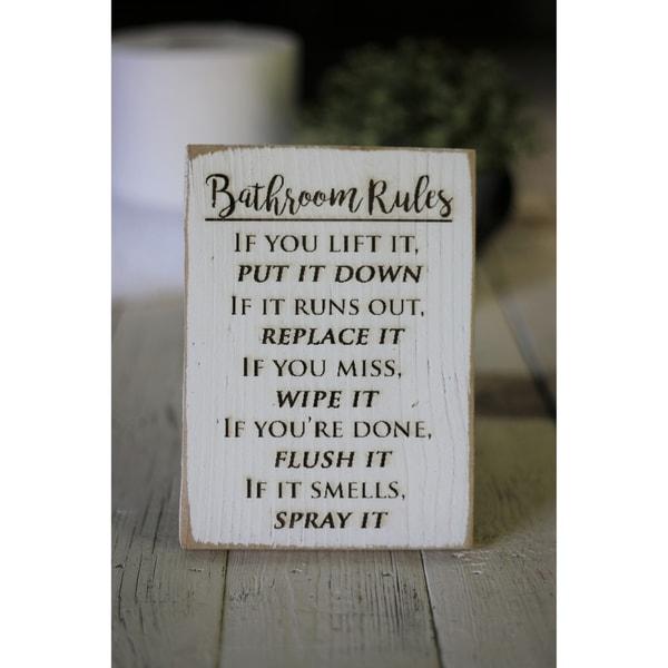 Shop Farmhouse Bathroom Signs 5x7 - Overstock - 25629248