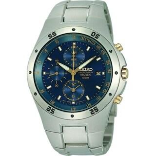 Seiko Titanium Chronograph Mens Watch SND449P1
