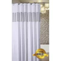 Quilted Mirror Shower Curtain Includes PEVA Liner 72 X Inch