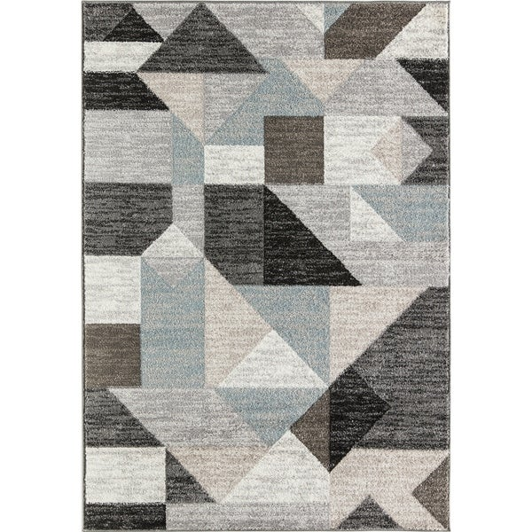 Rugs America Devon Abstract Hues Morrocan Geometric Area Rug (9' x 12')