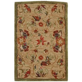 Safavieh Handmade Anatolia Oriental Traditional Beige Hand-spun Wool Rug (2' x 3')