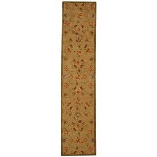 Safavieh Handmade Descent Beige Wool Runner (2'3 x 8')