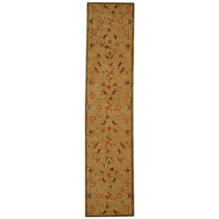 Safavieh Handmade Anatolia Oriental Traditional Beige Hand-spun Wool Runner (2'3 x 12')