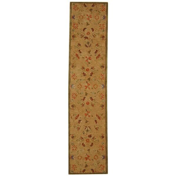 Safavieh Handmade Descent Beige Wool Runner (2'3 x 12')