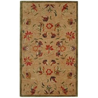 Safavieh Handmade Anatolia Oriental Beige Hand-spun Wool Rug (3' x 5')