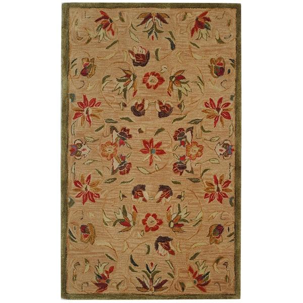 Safavieh Handmade Anatolia Oriental Beige Hand-spun Wool Rug - 3' x 5'