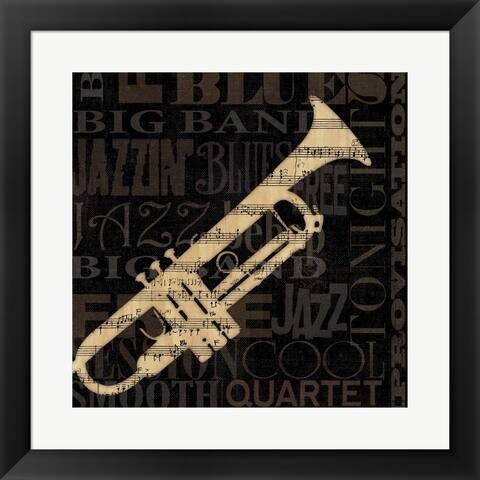 NBL Studio 'Jazz Improv I' Framed Art