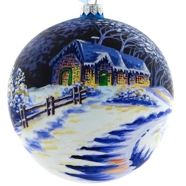 "Handpainted Driveway 6"" ornament"