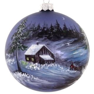 "Handpainted Scene 4"" ornament"
