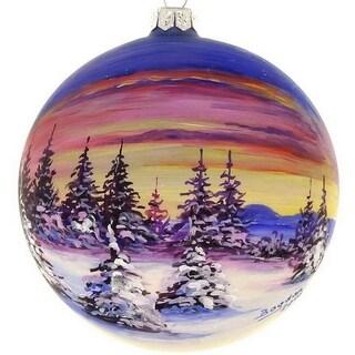 "Handpainted Sunset 4"" ornament"