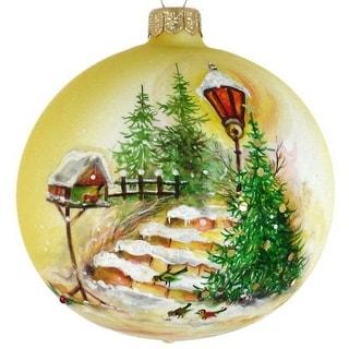 "Handpainted Tree 6"" ornament"