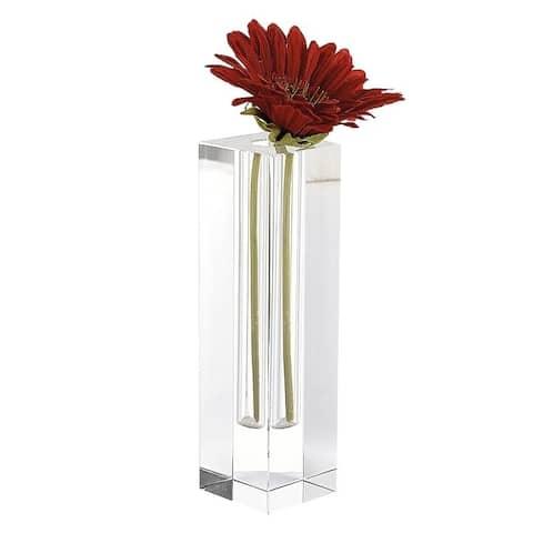 "Donovan 10"" Optical Crystal Bud Vase"