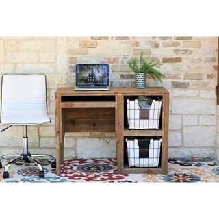 Natural Wood 40-inch Storage Desk