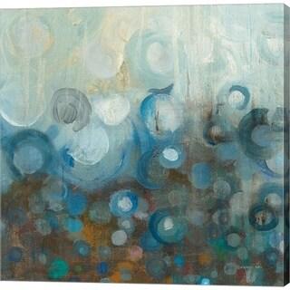 Danhui Nai 'Blue and Bronze Dots VII' Canvas Art