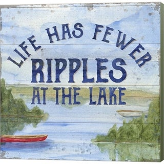 Tara Reed 'Lake Living IV (ripples)' Canvas Art