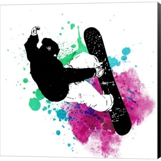 Sports Mania 'Snowboarder Watercolor Splash Part III' Canvas Art