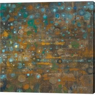 Danhui Nai 'Blue and Bronze Dots X' Canvas Art