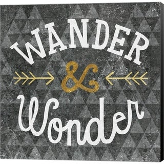 Michael Mullan 'Mod Triangles Wander and Wonder Gold' Canvas Art