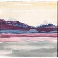 Chris Paschke 'Purple Rock Dawn II' Canvas Art