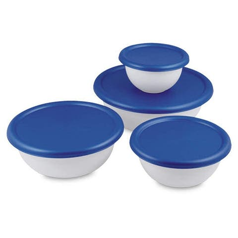 Multipurpose 8 Piece Covered Bowl Set With Lids