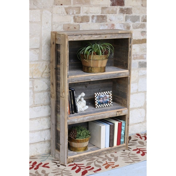 Terrific Natural Reclaimed Wood Distressed Rustic Freestanding Bookshelf Home Interior And Landscaping Oversignezvosmurscom