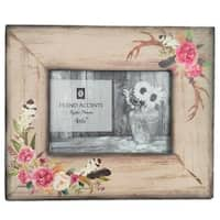 "HiEnd Accents Bohemian Rose and Antler 4""x6"" Frame"