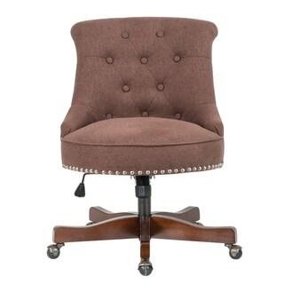 DG Casa Mckenna Brown Fabric Adjustable Home Office Chair