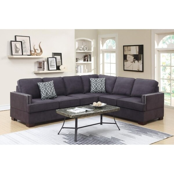 Shop Vale Microfiber 2 Piece Sectional Sofa Free
