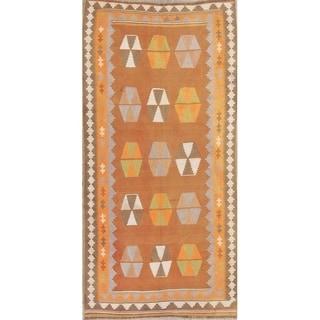 "Gracewood Hollow Nye Woven Blend Shiraz Woven Geometric Kilim Shiraz Persian Rug - 8'10"" x 4'4"" runner"