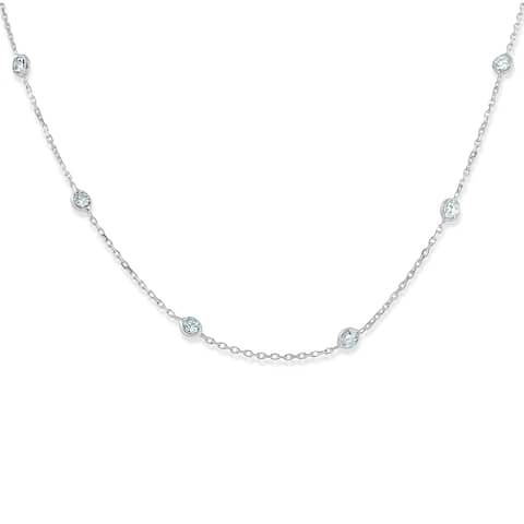 73c234e866d4f Buy Station Diamond Necklaces Online at Overstock | Our Best ...